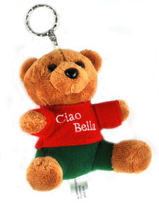 "4"" Ciao Bella Teddy Bear Key Chain - Guidogear"