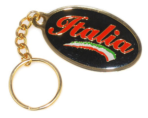 Italia Black Metal Key Chain - Guidogear
