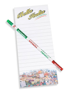 Italian Note Pad & Pencil Set - Guidogear
