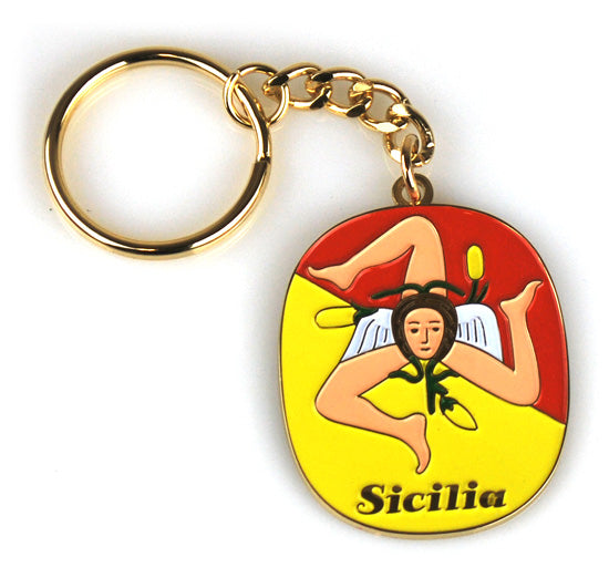 Sicilia Brass Key Chain - Guidogear