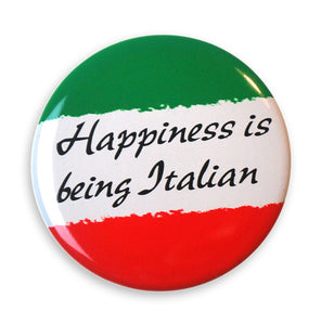"Happiness is Being Italian 2"" Button - Guidogear"