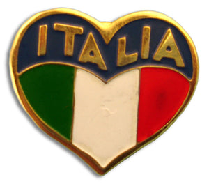 Heart Shape Italia Flags Pin - Guidogear