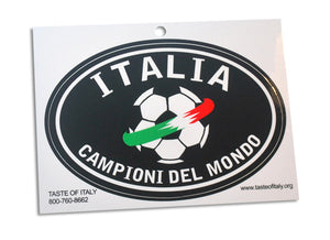 Italia Championo Del Mondo Oval Decal Sticker - Guidogear