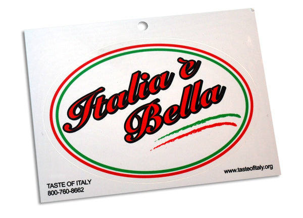 Italia e Bella Oval Decal Sticker - Guidogear