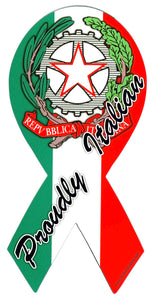 Huge Discount - Proudly Italian Ribbon Magnet - Guidogear