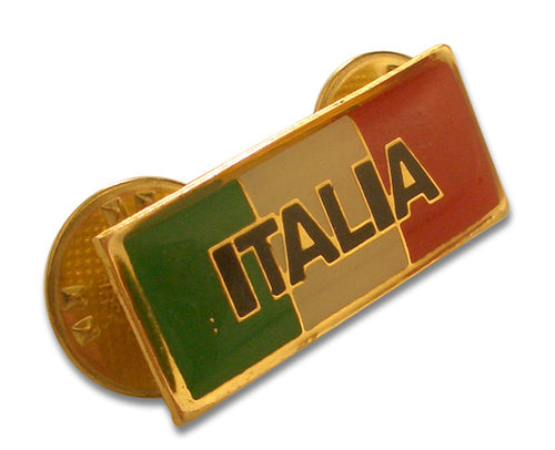 Italia Flag Bar Pin - Guidogear