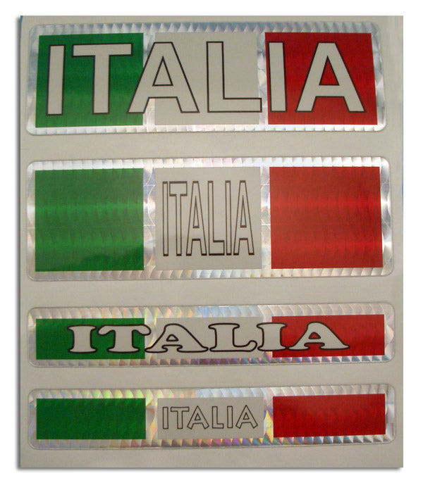 Reflective Italia Decals 4 Pack - Guidogear