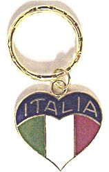Italia Heart Flag Key Chain - Guidogear