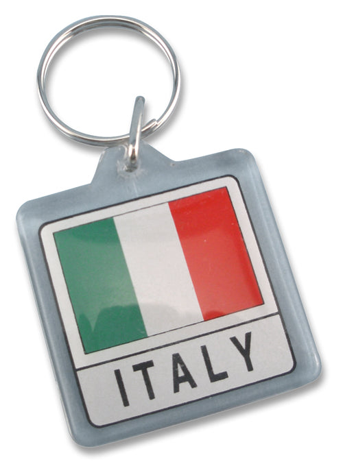 Lucite Italian Flag Key Chain - Guidogear