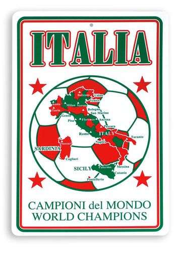 Italia - Championi del Mondo Parking Sign - Guidogear