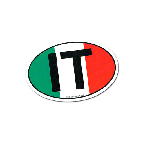 IT - Italy Oval Flag Magnet - Guidogear