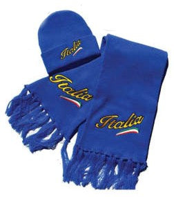Italia Scarf  & Ski Cap - Royal - Guidogear
