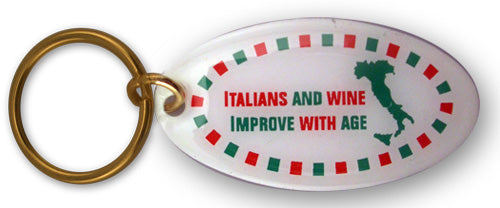 Italians & Wine Improve with Age keychain - Guidogear