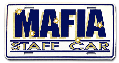 Mafia Staff Car License Plate - Guidogear
