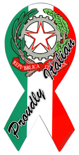 Proudly Italian Ribbon Magnet - Guidogear