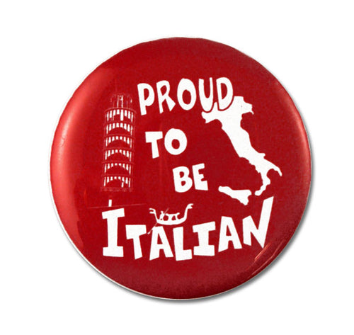 Proud To Be Italian Button - Guidogear