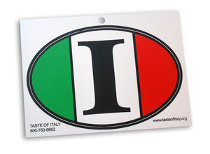 Big I - Italy Oval Decal - Guidogear