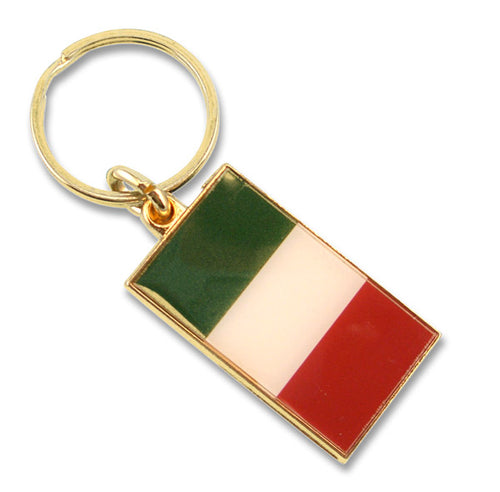 Brass Italian Flag Key Chain - Guidogear
