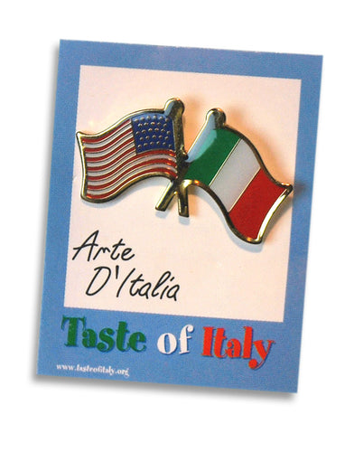Italian US and Italy Flag Lapel Pin - Guidogear
