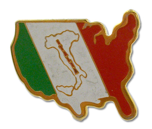 USA Italy Flag & Boot Pin - Guidogear