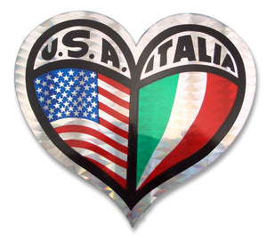 USA - Italia Heart Sticker - Guidogear