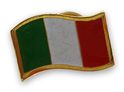 Waving Italian Flag Pin - Guidogear