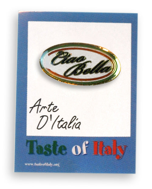 Italian Ciao Bella Lapel Pin - Guidogear