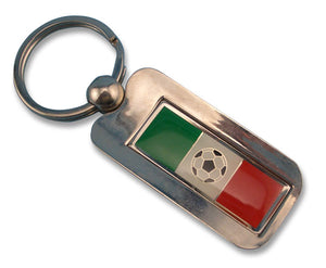 "Silver Key chain ""Soccer Ball Inlay"" - Guidogear"