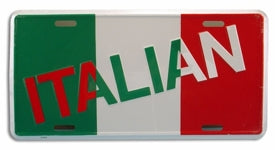 Italian Flag With Italian License Plate - Guidogear