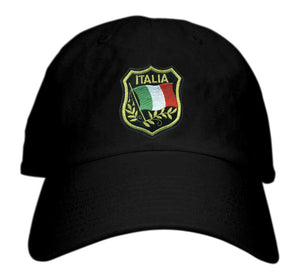 Italia Crest Patch Baseball Hat - Guidogear
