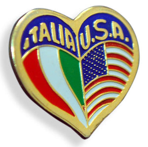 Italia USA Heart Pin - Guidogear