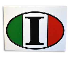 Italy Flag Oval Decal Sticker - Guidogear