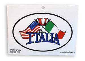 USA - Italia Oval Decal Sticker - Guidogear