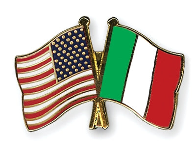 USA & Italy Flags Pin - Guidogear