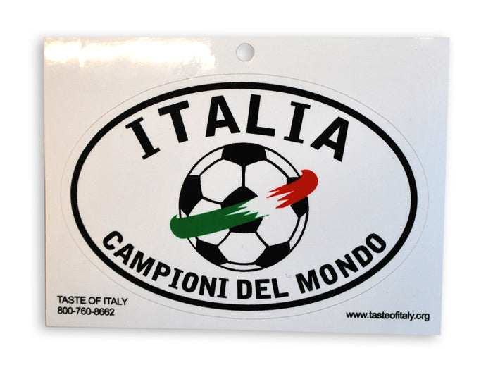 White Italia Championi Del Mondo Oval Decal Sticker - Guidogear