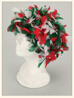 Feather Boa Wigs Red, White & Green - Guidogear