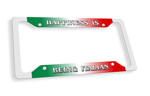 Happiness Is Being Italian License Plate Frame - Guidogear