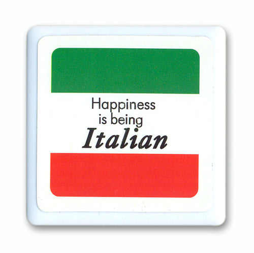 Happiness Is Being Italian Tile Magnet - Guidogear