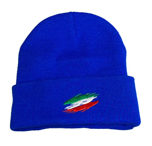 Italian Flag Blue Stocking Cap - Guidogear
