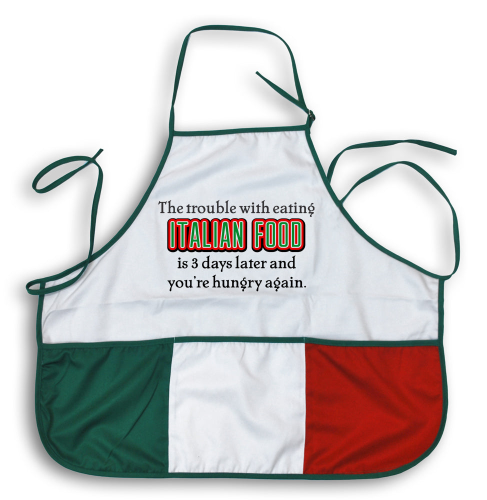 Italian Food - Hungry 3 Days Later Apron - Guidogear