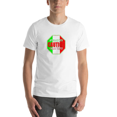 Approach With Caution - Italian Temper Short-Sleeve Unisex T-Shirt - Guidogear