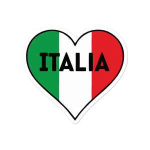 Italia Heart & Flag Decal Bubble-free stickers - Guidogear