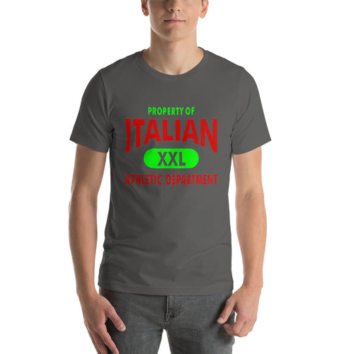 Property Of Italian Color Italian Short-Sleeve Unisex T-Shirt - Guidogear