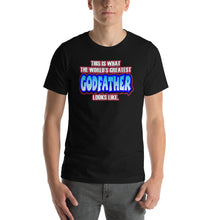 Load image into Gallery viewer, World's Greatest Godfather Short-Sleeve Unisex T-Shirt - Guidogear