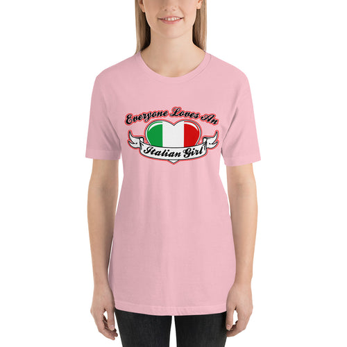 Everyone Loves An Italian Girl - Wings Short-Sleeve Unisex T-Shirt - Guidogear
