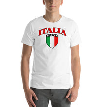 Load image into Gallery viewer, Italia Soccer Short-Sleeve Unisex T-Shirt - Guidogear