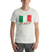 Load image into Gallery viewer, Vintage Italy Flag Short-Sleeve Unisex T-Shirt - Guidogear