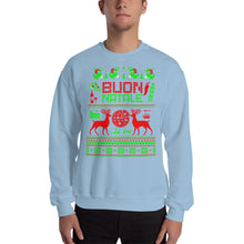 Load image into Gallery viewer, Italian Ugly Christmas Sweater Design Unisex Sweatshirt - Guidogear