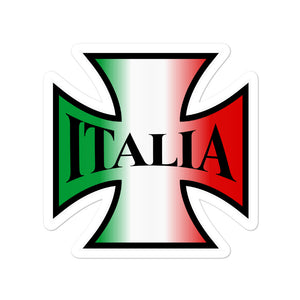 Italia Biker Cross Bubble-free stickers - Guidogear