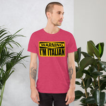 Load image into Gallery viewer, Warning I'm Italian Short-Sleeve Unisex T-Shirt - Guidogear